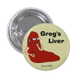 Botón del aniversario del hígado de Greg 1r Pins