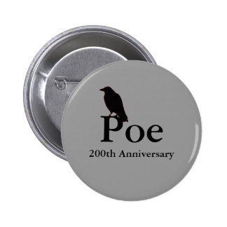 Botón del aniversario del Poe 200o Pins