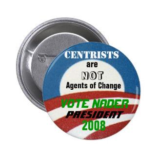 Botón del Anti-Centrista de Nader Pin Redondo De 2 Pulgadas