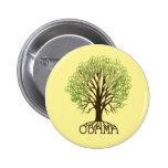 Botón del árbol de la paz de Obama Pins