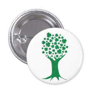 Botón del árbol de los tréboles pins