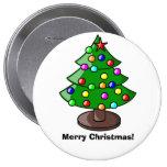 """Botón del árbol de navidad """"de las Felices Navidad Pin"""