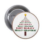 Botón del árbol de navidad pin