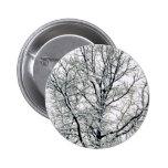 Botón del árbol del invierno pins