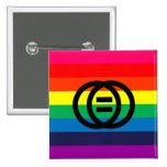 Botón del arco iris de la igualdad de la boda pins
