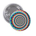 Botón del arco iris de Swirly Pin