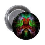 Botón del arte abstracto de Carnaval (redondo) Pin Redondo De 2 Pulgadas