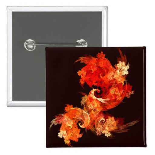 Botón del arte abstracto de Firebirds del baile (c Pins