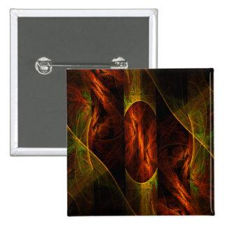 Botón del arte abstracto de la selva de la mística pin cuadrado