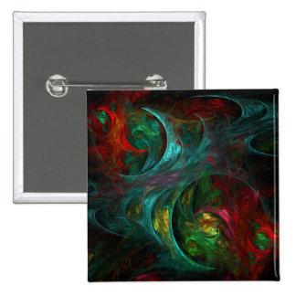 Botón del arte abstracto de Nova de la génesis (cu Pin Cuadrado