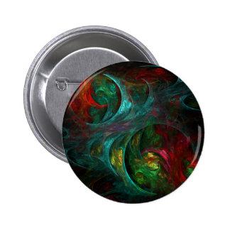 Botón del arte abstracto de Nova de la génesis (re Pin Redondo De 2 Pulgadas