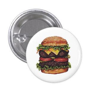 Botón del arte de la hamburguesa del comensal de