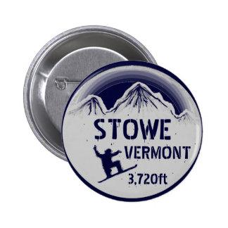 Botón del arte de la snowboard de los azules marin pin redondo de 2 pulgadas