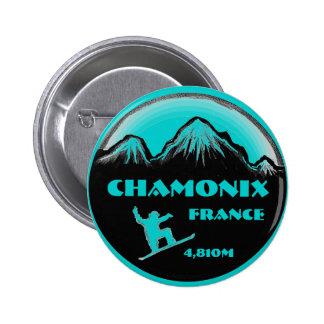 Botón del arte de la snowboard del trullo de Chamo Pin Redondo De 2 Pulgadas