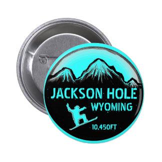 Botón del arte de la snowboard del trullo de Jacks Pin Redondo De 2 Pulgadas