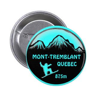 Botón del arte de la snowboard del trullo de Mont  Pin Redondo De 2 Pulgadas
