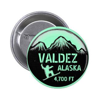 Botón del arte de la snowboard del verde de mar de pin redondo de 2 pulgadas