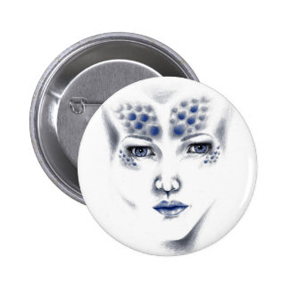 Botón del arte de Srta. Universe Alien señora