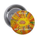 Botón del arte del autismo de Candace Pin