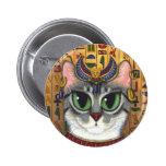 Botón del arte del gato de Bastet del egipcio de l Pins