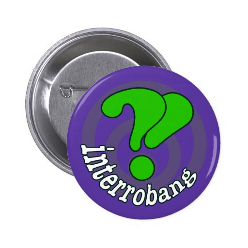 Botón del arte pop de Interrobang - Blurple Pin