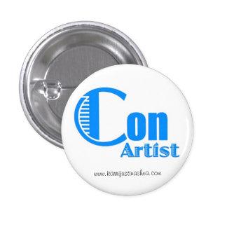 Botón del artista de las estafas pins