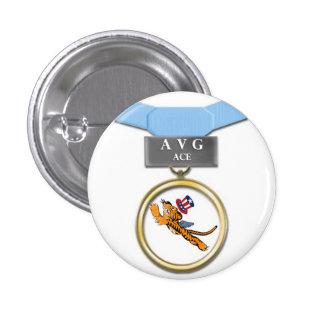 Botón del as de Flying Tigers AVG Pin Redondo De 1 Pulgada