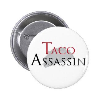 Botón del asesino del Taco Pin Redondo De 2 Pulgadas