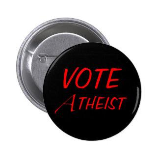 Botón del ateo del voto pins