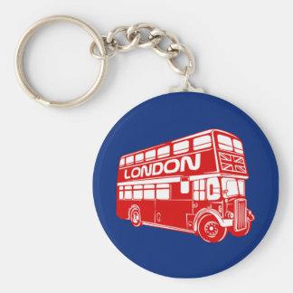 Botón del autobús de Londres Llaveros Personalizados