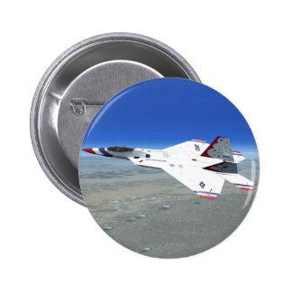 Botón del avión de caza a reacción de los ángeles