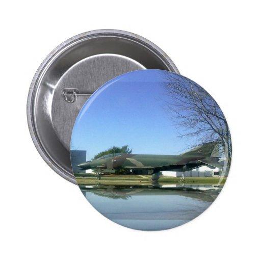 Botón del avión de combate (F4-Phantom) Pin