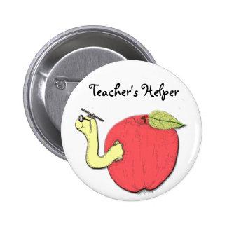 Botón del ayudante del profesor pin redondo de 2 pulgadas