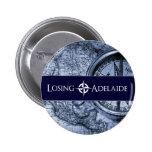 Botón del azul de Adelaide que pierde Pin Redondo De 2 Pulgadas