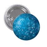 Botón del azul de la bola de discoteca