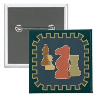 Botón del azul de los pedazos de ajedrez