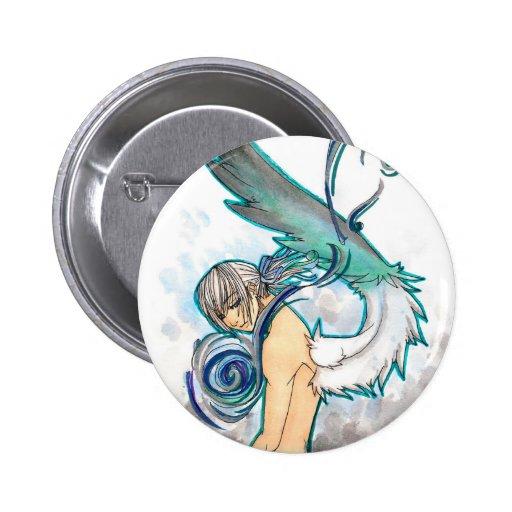 Botón del azul del alma