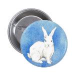 Botón del azul del conejo pin