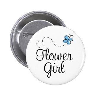 Botón del azul del florista del día de boda