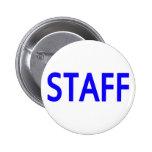 Botón del azul del personal pins