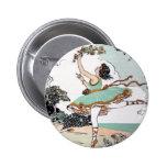 Botón del bailarín de ballet del vintage pin