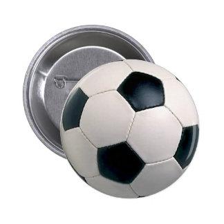 Botón del balón de fútbol pin redondo de 2 pulgadas