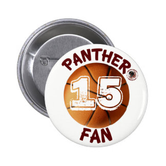 Botón del baloncesto de la fan de la pantera patro pin redondo de 2 pulgadas