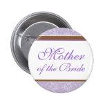 Botón del banquete de boda de la lavanda pin