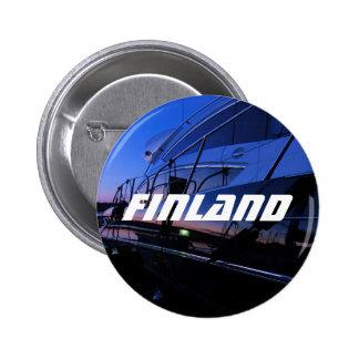 Botón del barco de Finlandia Pin Redondo De 2 Pulgadas