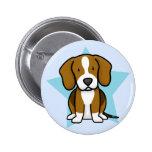 Botón del beagle de la estrella de Kawaii Pin