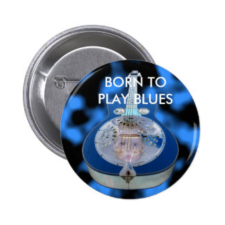 Botón del bebé de azules pin redondo de 2 pulgadas