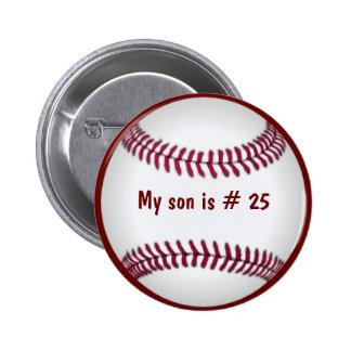 Botón del béisbol pin redondo de 2 pulgadas