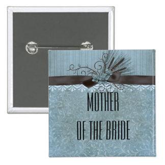 Botón del beso de la cinta del invierno del cordón pin cuadrado