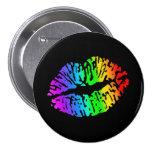 Botón del beso del arco iris pin